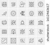 25 universal icons vector...   Shutterstock .eps vector #1612463617