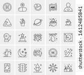 25 universal icons vector... | Shutterstock .eps vector #1612485841