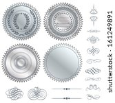 vector silver seal set. great... | Shutterstock .eps vector #161249891