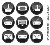 video game icons glossy button... | Shutterstock .eps vector #161251334