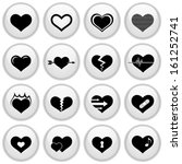 heart icons glossy white button ... | Shutterstock .eps vector #161252741