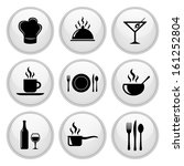 food and restaurant icons... | Shutterstock .eps vector #161252804