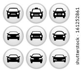 car icons glossy white button... | Shutterstock .eps vector #161252861