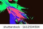 digital effects. geometric... | Shutterstock . vector #1612534504
