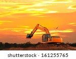 Excavator At Construction Site...