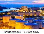 oil tanks at night | Shutterstock . vector #161255837