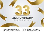 33 anniversary celebration with ...   Shutterstock .eps vector #1612620247