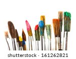 paints and brushes | Shutterstock . vector #161262821