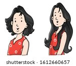 short hair   long hair... | Shutterstock .eps vector #1612660657