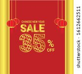 sale of the chinese new year's | Shutterstock .eps vector #1612662511