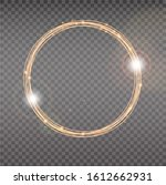 Bright Halo. Abstract Glowing...