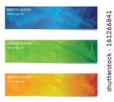 Stock vector abstract vector banner 161266841