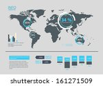 set of world map and... | Shutterstock .eps vector #161271509