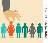 Vector  Human Resources Concep...