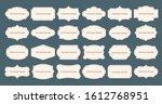 vintage label frames. old frame ... | Shutterstock . vector #1612768951