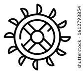 Turbine Water Mill Wheel Icon....