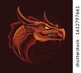 red dragon head vector...   Shutterstock .eps vector #1612797661