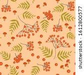 seamless pattern on autumn... | Shutterstock .eps vector #1612800577