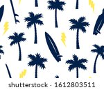 summer seamless pattern with... | Shutterstock .eps vector #1612803511