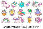 cute hand drawn patches. magic... | Shutterstock . vector #1612816444