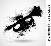 music grunge trumpet | Shutterstock .eps vector #161282291