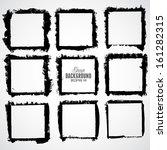 grunge frame set for multiple... | Shutterstock .eps vector #161282315