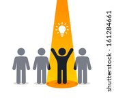 new idea   pictogram people    Shutterstock .eps vector #161284661
