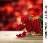 Stock photo few roses and background of bokeh 161288207