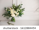 Bridal Bouquet With White And...
