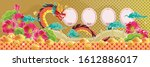 chinese dragon and background.... | Shutterstock .eps vector #1612886017