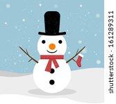 snowman. vector snowman.... | Shutterstock .eps vector #161289311