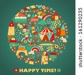 children's round background... | Shutterstock . vector #161290235