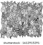 abstract zentagle pattern... | Shutterstock .eps vector #1612915291