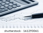 accounting financial graphs... | Shutterstock . vector #161293061