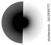 radial burst lines circular... | Shutterstock .eps vector #1612939777