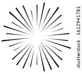 random circular lines starburst ... | Shutterstock .eps vector #1612941781