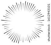 random circular lines starburst ... | Shutterstock .eps vector #1612943101
