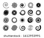 spirals. twisted swirl  circle... | Shutterstock .eps vector #1612953991