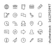 contact line icons. support... | Shutterstock .eps vector #1612953997