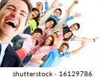 young happy  people. isolated... | Shutterstock . vector #16129786