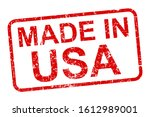 made in usa stamp icon sign  ... | Shutterstock .eps vector #1612989001
