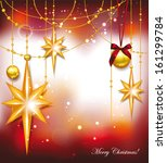 christmas greeting cards with... | Shutterstock .eps vector #161299784