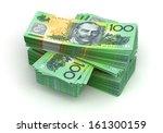 stack of australian dollar ... | Shutterstock . vector #161300159