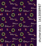 new year seamless pattern for...   Shutterstock .eps vector #1613008987