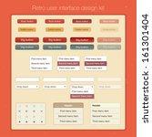 retro user interface design kit....