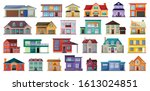 villa of house vector cartoon... | Shutterstock .eps vector #1613024851