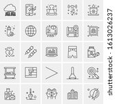 25 universal icons vector... | Shutterstock .eps vector #1613026237