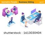 isometric business people flat...   Shutterstock .eps vector #1613030404
