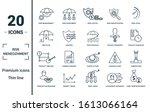 risk management icon set.... | Shutterstock .eps vector #1613066164