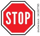 stop sign | Shutterstock .eps vector #161307785